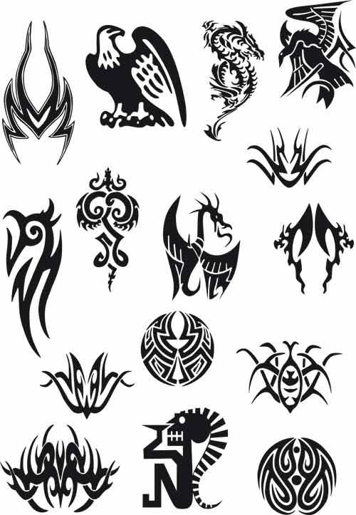 Tattoo Vector Set Free Vector
