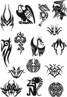 Tattoo Vector Set Free Vector