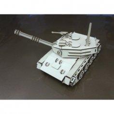 Tank 3D Puzzle Model Laser Cut Free Vector