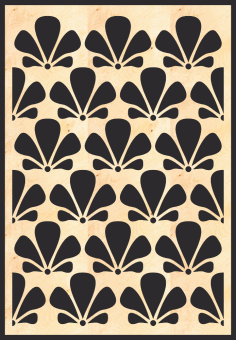 MDF Decorative Grille Panel Pattern Free Vector