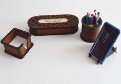 Desk Organizer Set 3 Mm DXF File