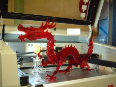 3D Puzzle Dragon DXF File