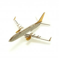 Laser Cut Airplane 3D Puzzle Free Vector
