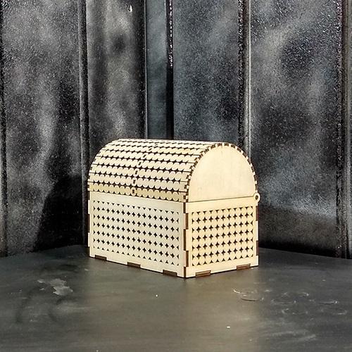 Laser Cut Decorative Treasure Chest Jewelry Box Free Vector