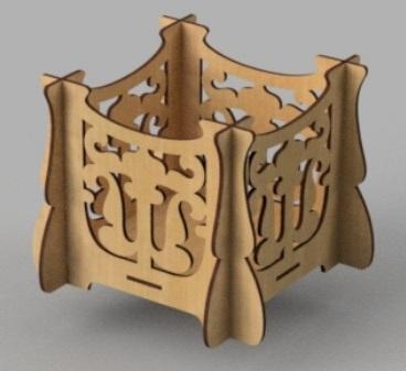 Laser Cut Wooden Carved Box Free Vector