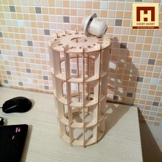 Laser Cut Wooden Hanging Lamp Night Light DXF File