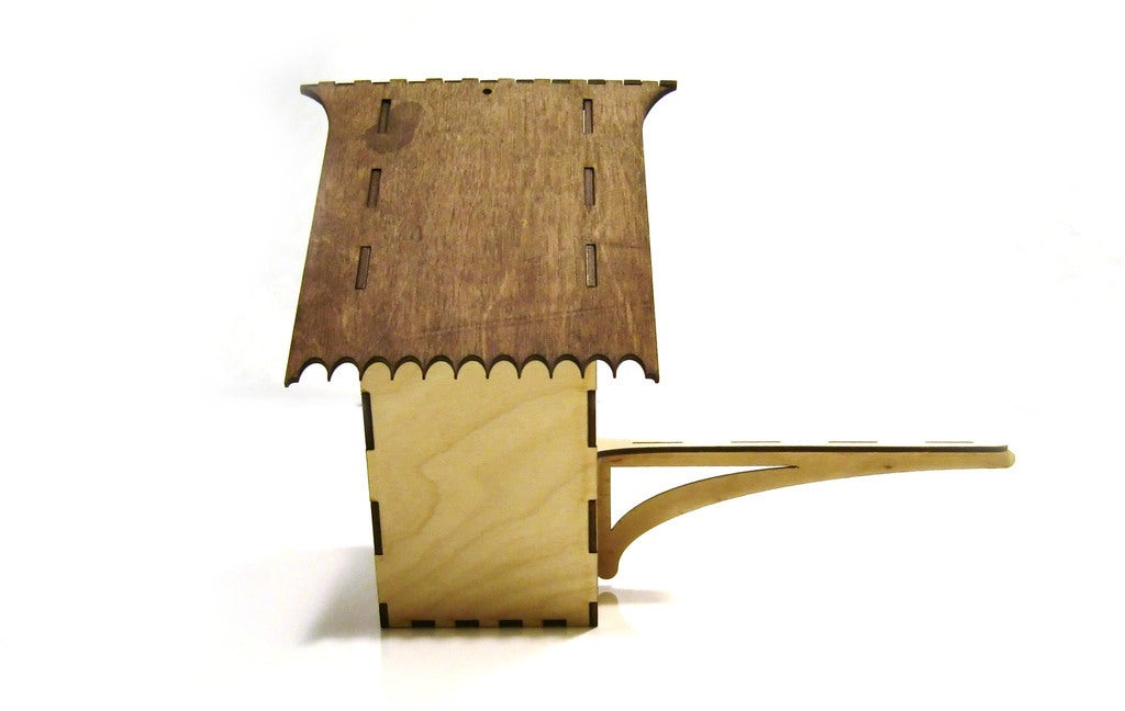 Laser Cut Bird House 3mm Plywood DXF File