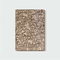 Laser Engraving Pattern For Notebook Cover Free Vector