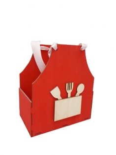Laser Cut Apron Shaped Gift Box Mother's Day Treat Box Free Vector