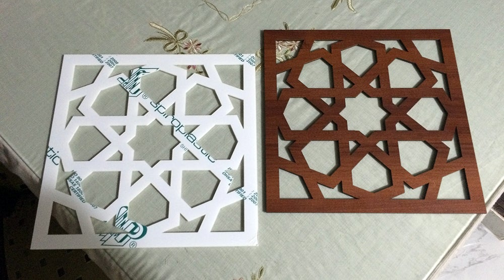 Laser Cut Islamic Arabic Grill Design Pattern DXF File