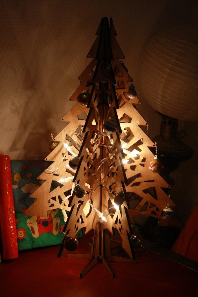 Laser Cut Christmas Tree 5mm Plywood DWG File