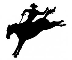Cowboy Running Silhouette dxf file