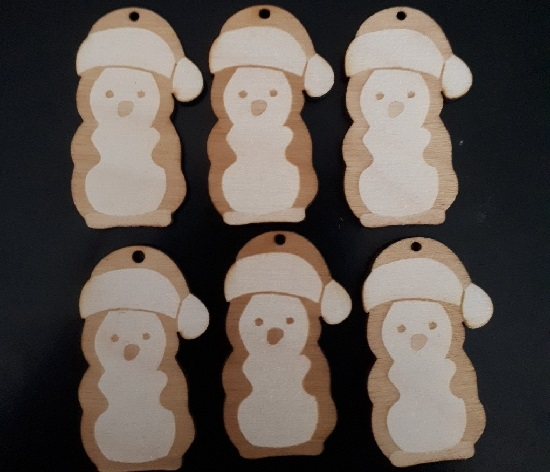 Laser Cut Penguin Christmas Ornaments SVG File