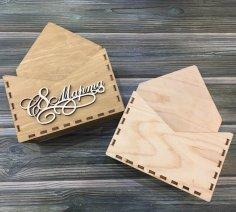 Laser Cut Envelope Gift Box DXF File