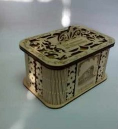 Laser Cut Decor Jewelry Box Plywood Free Vector