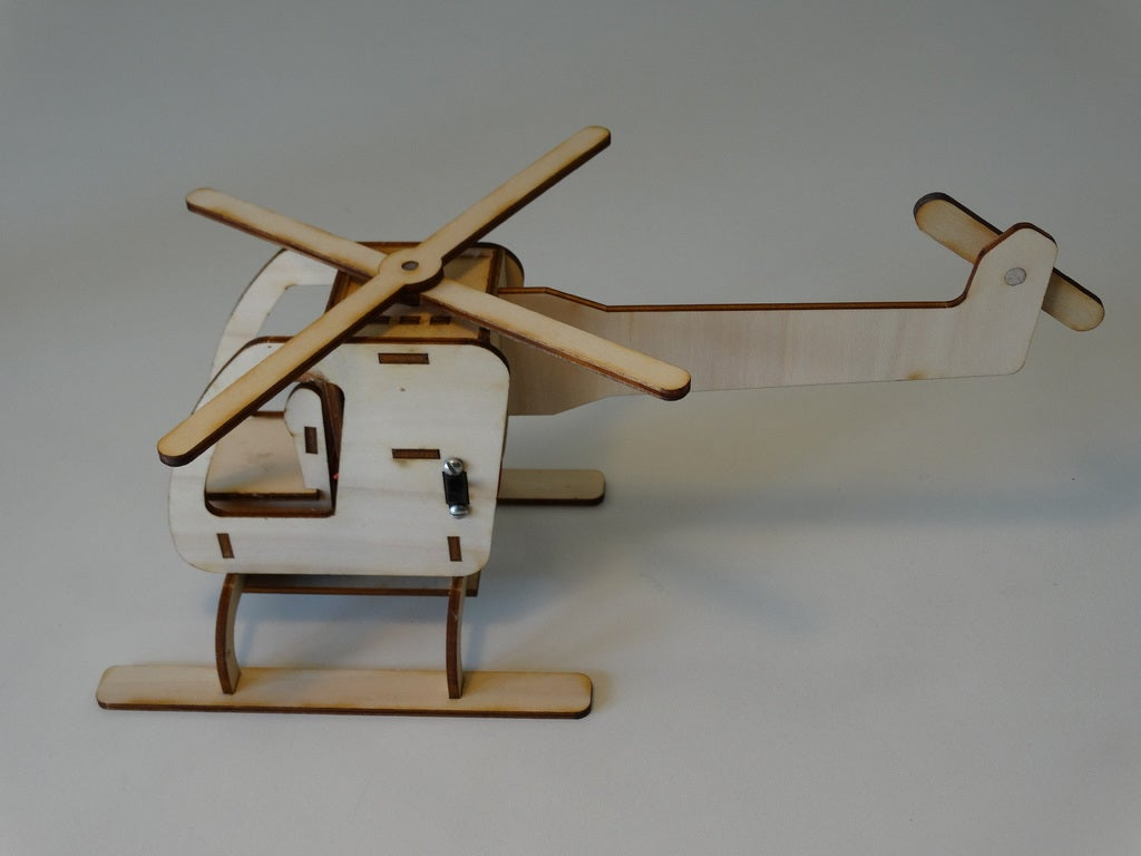 Laser Cut Motorized Helicopter 3mm DXF File