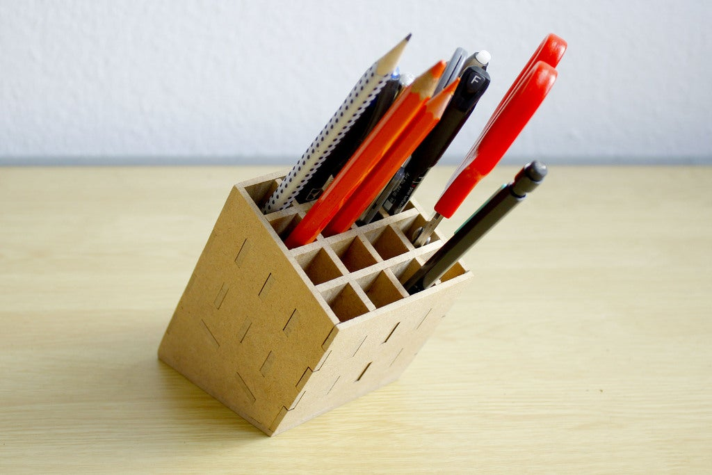 Laser Cut Pencil Stand 3mm DXF File