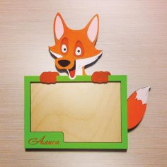 Laser Cut Fox Picture Frame Free Vector