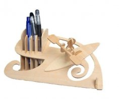 Laser Cut Boat Race Pen Holder Desk Organizer PDF File