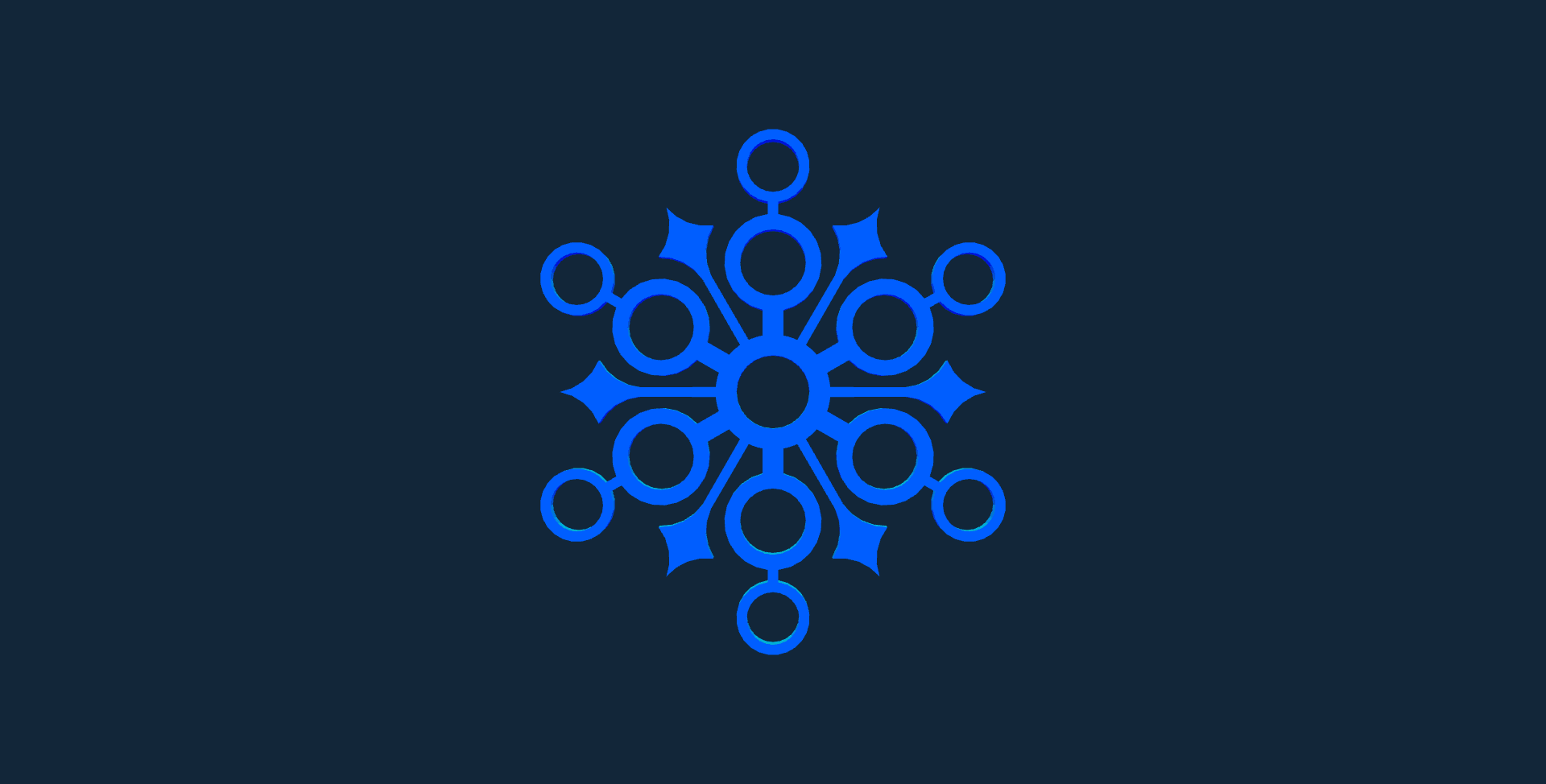 Snowflake design 2 stl file