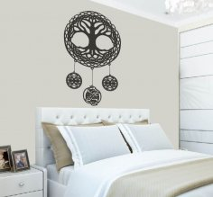 Laser Cut Celtic Tree Of Life Wall Art Room Decor Free Vector