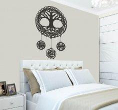 Laser Cut Celtic Tree Of Life Wall Art Room Decor Free Vector