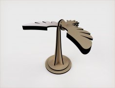 Laser Cut Balancing Bird Wooden Model Kit Kids Educational Toys Free Vector