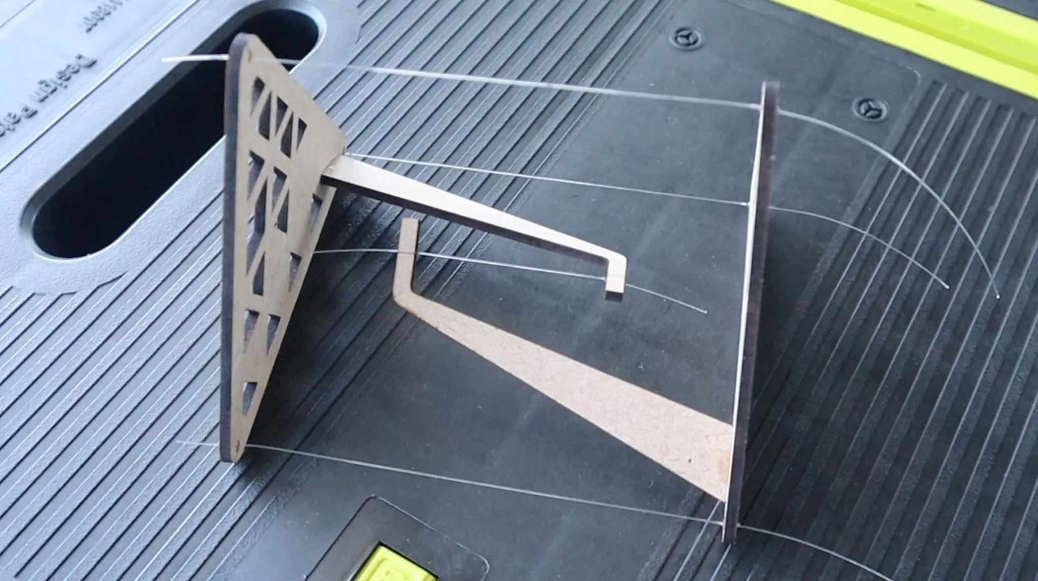 Laser Cut Impossible Table Tensegrity Table DXF File