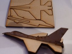 Lasercut Mini F16 Fighter Aircraft DXF File
