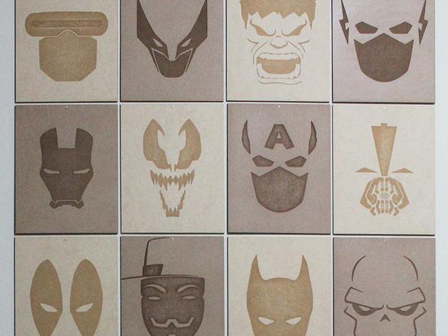 Superhero MDF Posters Ai File