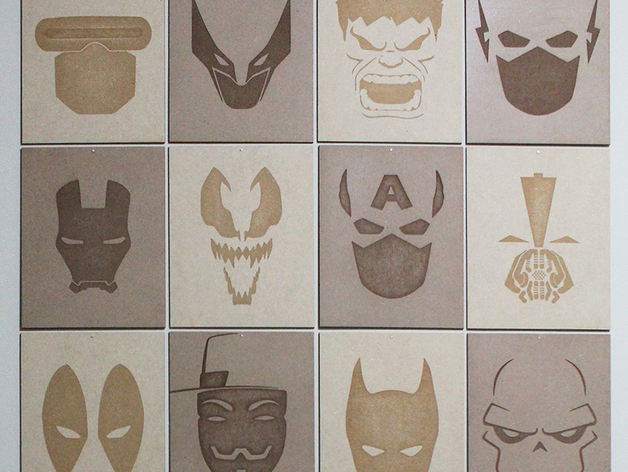 Superhero MDF Posters Free Vector