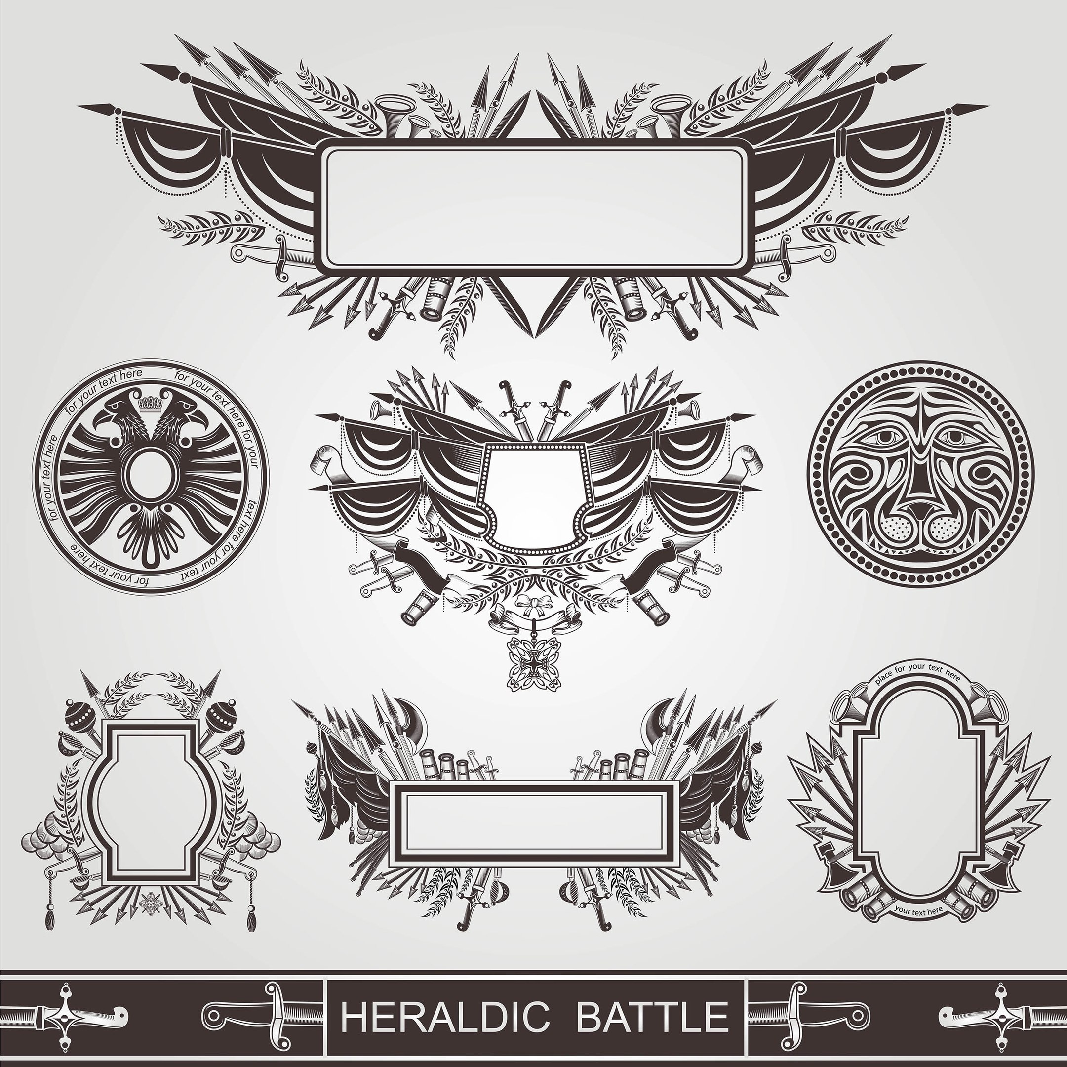 Battle Coats Of Arm Free Vector