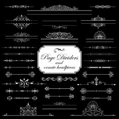 Page Dividers And Ornate Headpieces Free Vector
