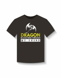 T-Shirt Dragon Design Free Vector