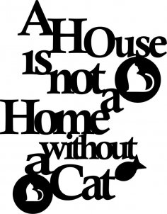 Cat Quote DXF File
