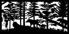 30 X 60 Two Wolves And Bear Plasma Metal Art DXF File