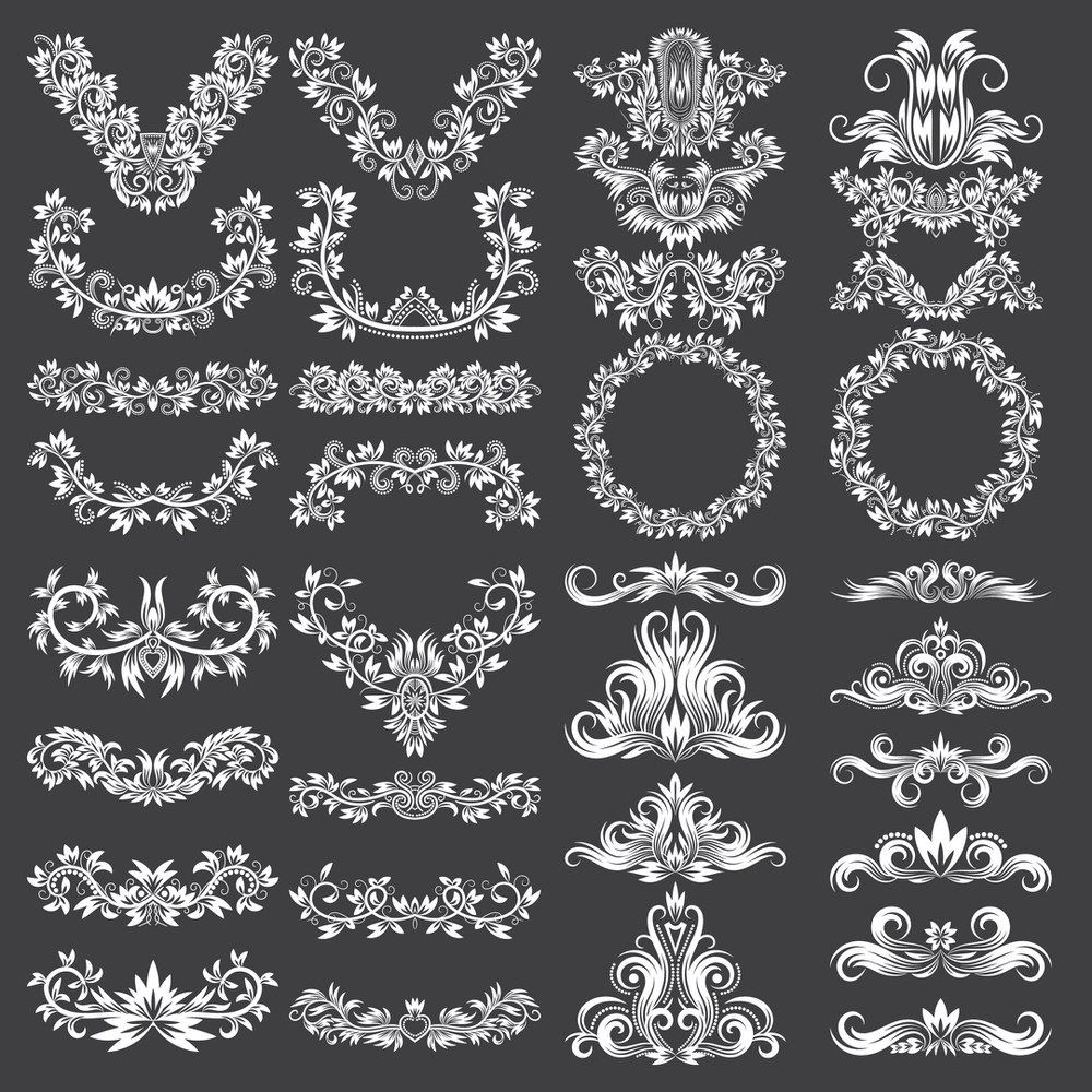 Ornate Decorative Design Elements Free Vector
