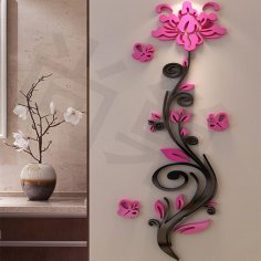 Laser Cut Wall Decor Flower Template Free Vector