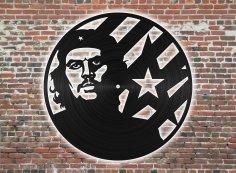 Laser Cut Che Guevara Wall Clock Free Vector