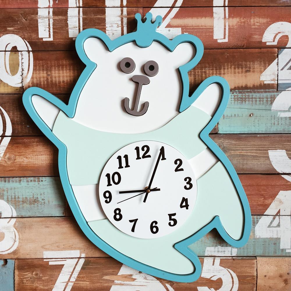 Laser Cut Kids Room Wall Clock Free Vector