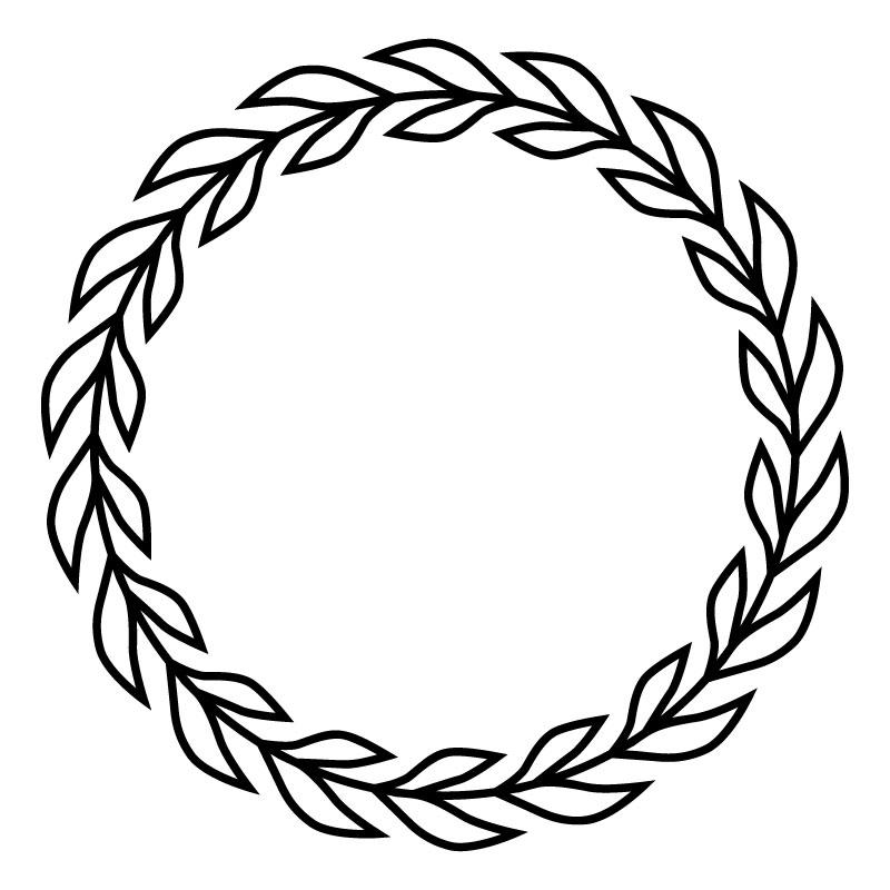 Laurels and Wreaths Design 4 dxf file