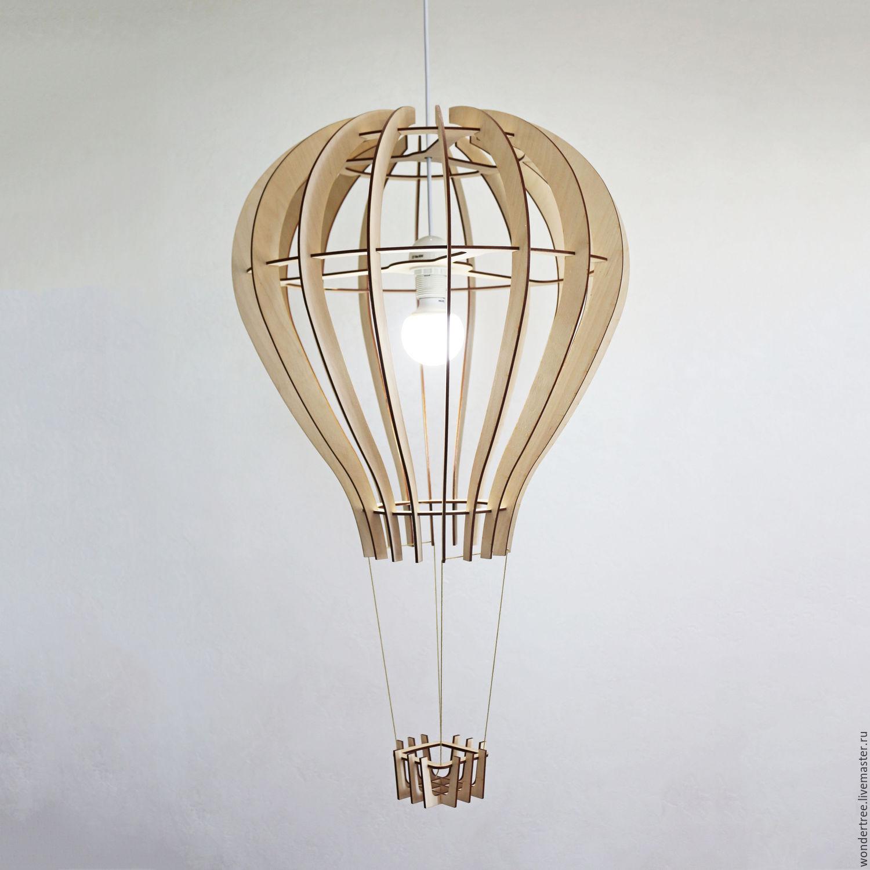 Laser Cut Hot Air Balloon Shape Lamp Free Vector