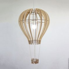Laser Cut Hot Air Balloon Shape Lamp Free Vector