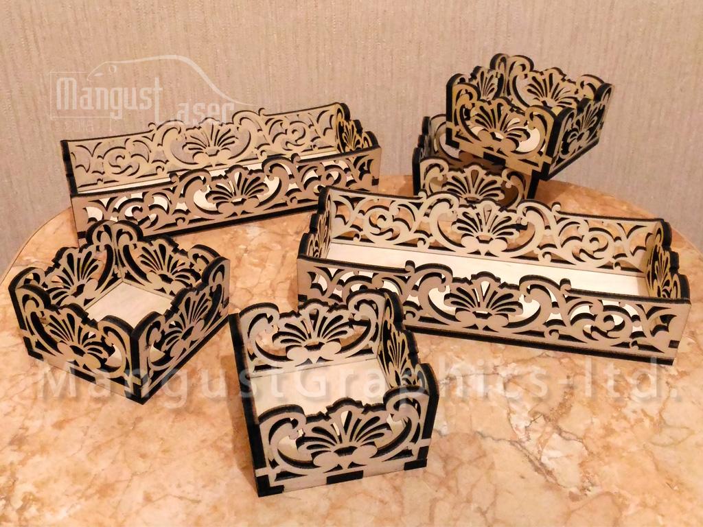Laser Cut Arabesque Art Box Trays Templates Free Vector
