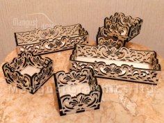 Laser Cut Arabesque Art Box Trays Templates Free Vector