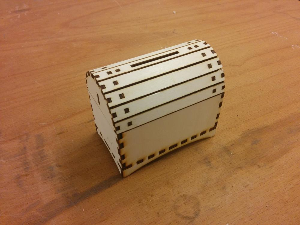 Laser Cut Piggy Bank like Pirate Chest 3mm SVG File