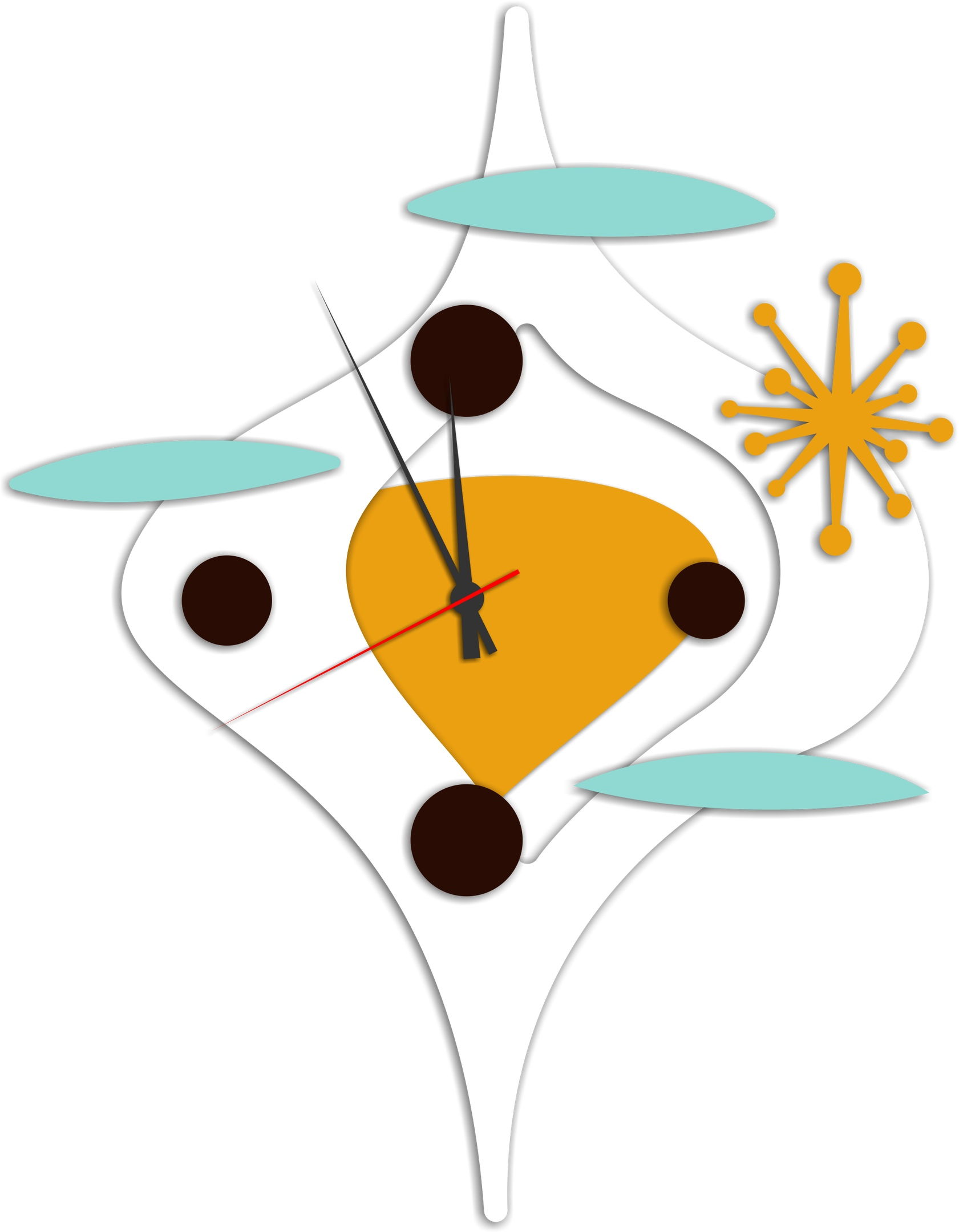 Laser Cut Modern Design Wall Clock Templates Free Vector