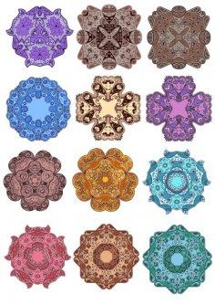 Mandala Vector Floral Mandala Set Free Vector