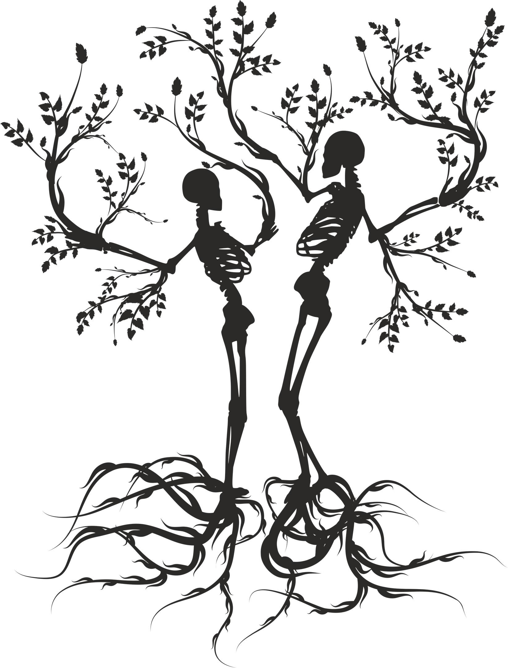 Skull Tree Vector Free Vector