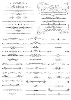 Hand Drawn Vector Doodle Borders Set Free Vector